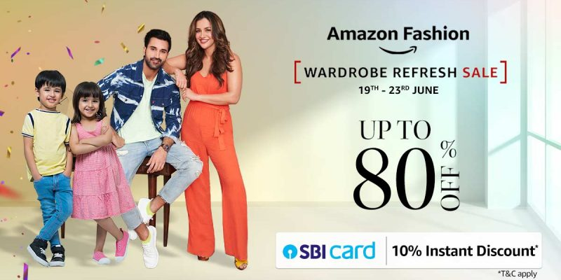 Amazon Sale Wardrobe Refresh Sale For 2021 | Up to 80% off on Clothing, Footwear, Watches, etc