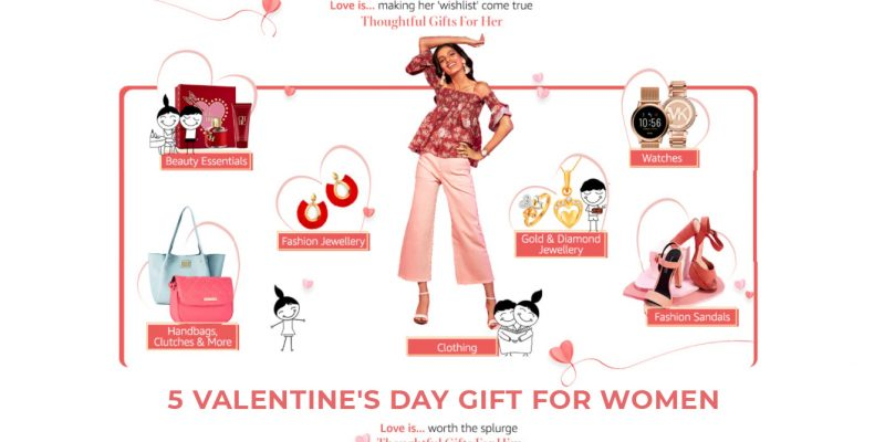 5 Unique Gift ideas on Valentine's Day for Women in india 2021