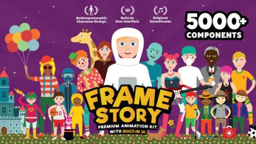 FrameStory Explainer Character Animation Toolkit with Built In After Effects UI