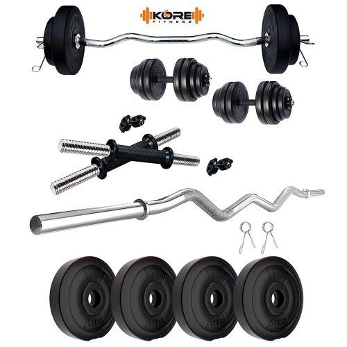 Kore PVC 10 Kg Home Gym Set with Gym Rods
