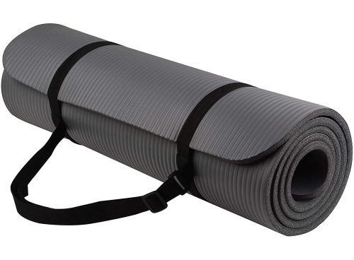 Ozoy 13mm Extra Thick Yoga and Exercise Mat Anti Skid with Carrying Strap.