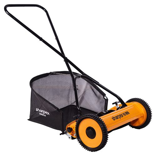 Sharpex Push Manual Lawn Mower with Grass Catcher