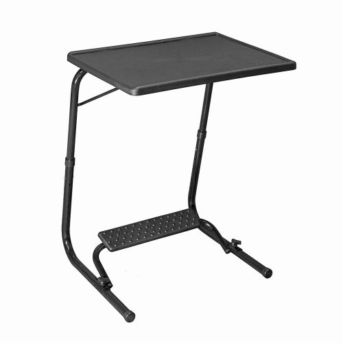 TABLE MAGIC Multipurpose Laptop Table Mat Finish Top PP Steel 53 * 40 * 73cm 6 Heights 3 Angles Adjustable Foldable